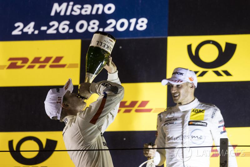 Podio: Joel Eriksson, BMW Team RBM y Edoardo Mortara, Mercedes-AMG Team HWA