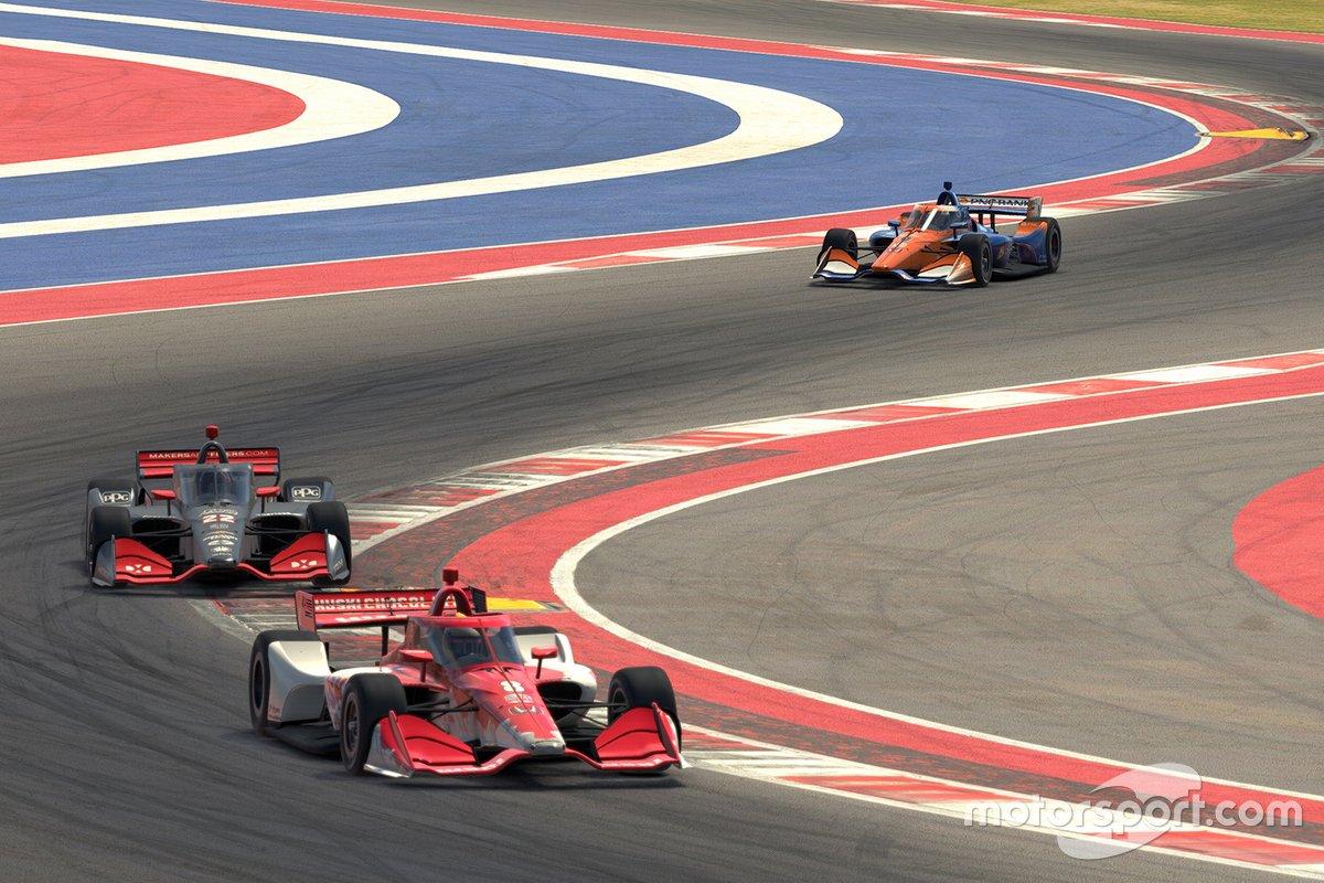 Marcus Ericsson, Chip Ganassi Racing, Simon Pagenaud, Team Penske, Scott Dixon, Chip Ganassi Racing