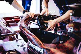Alfa Romeo Racing steering wheel detail
