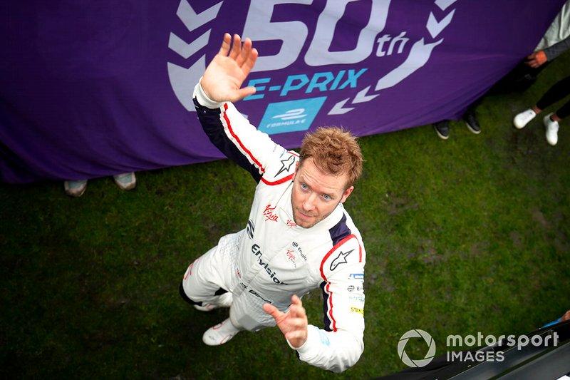 Ganador, Sam Bird, Envision Virgin Racing va al podio