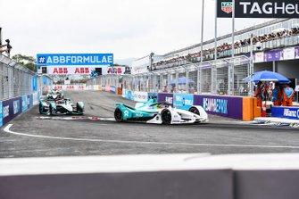 Tom Dillmann, NIO Formula E Team, NIO Sport 004, Mitch Evans, Panasonic Jaguar Racing, Jaguar I-Type 3
