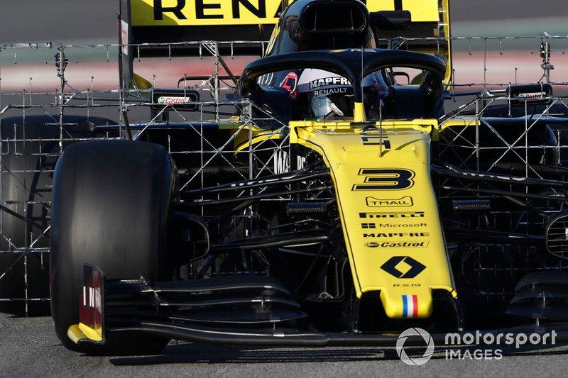 Daniel Ricciardo, Renault F1 Team R.S. 19, con sensori aerodinamici