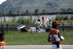 Crash, Chico Serra, Fittipaldi F8D-Ford Cosworth
