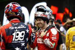 Travis Pastrana with Sebastian Vettel