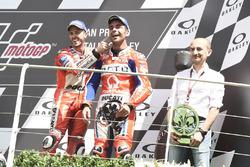 Podium: Danilo Petrucci, Pramac Racing, Domenicali, Andrea Dovizioso, Ducati Team