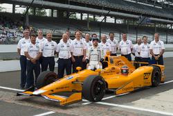 Fernando Alonso, Andretti Autosport Honda y retrato de calificación oficial de equipo