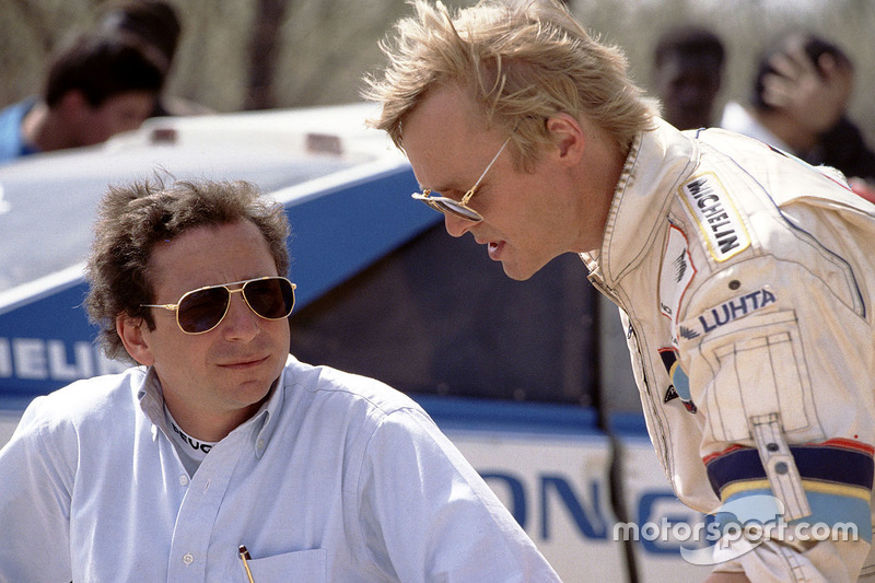 Peugeot team manager Jean Todt, Ari Vatanen