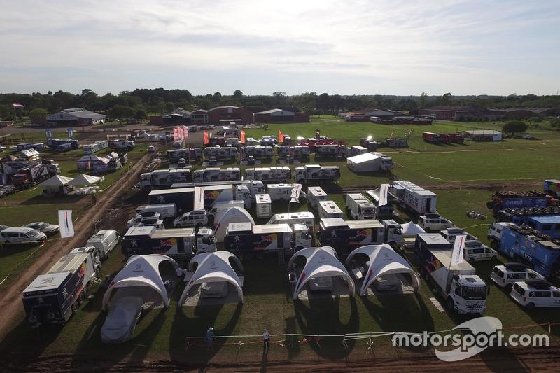 Расположение команды Peugeot Sport