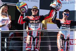 Podium: second place Chaz Davies, Ducati Team, third place Marco Melandri, Ducati Team
