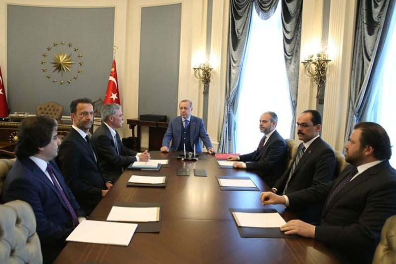 Chase Carey, Formel-1-Boss; Recep Tayyip Erdoğan, Staatspräsident Türkei