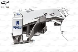 Nouveau déflecteur de la Williams FW40, Grand Prix d'Autriche