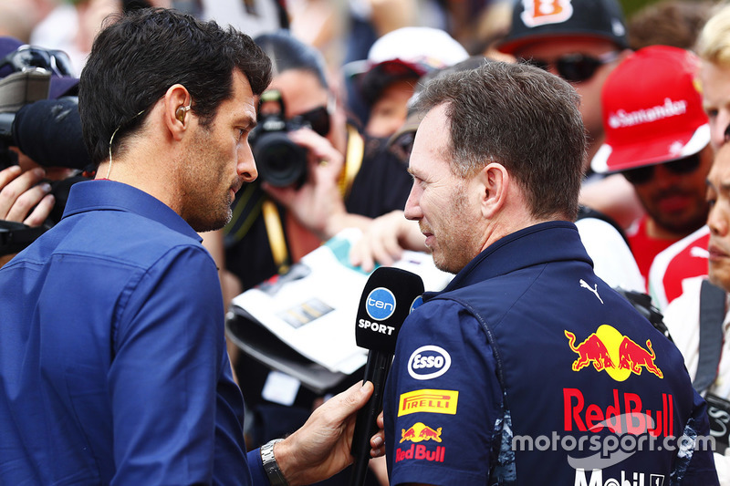 Mark Webber, Christian Horner director de Red Bull team