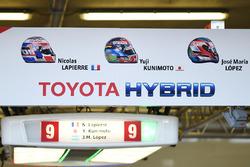 #9 Toyota Gazoo Racing, Toyota TS050 Hybrid: Jose Maria Lopez, Yuji Kunimoto, Nicolas Lapierre