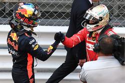 Daniel Ricciardo, Red Bull Racing and Sebastian Vettel, Ferrari