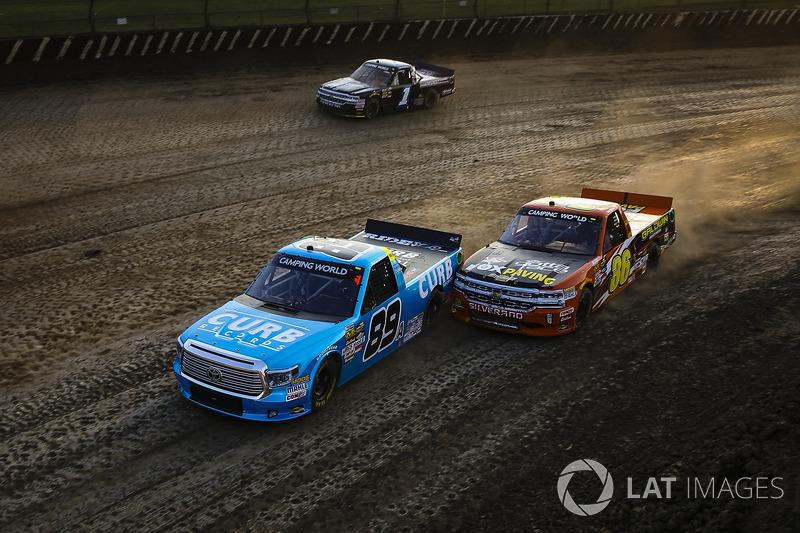Rico Abreu, ThorSport Racing Toyota y Chris Windom, MB Motorsports Chevrolet