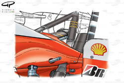 Ferrari F2003-GA engine cover and probes