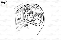 Cockpit de la Ferrari 412T1 (646)