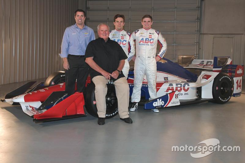 Larry Foyt, A.J. Foyt, Carlos Muñoz y Conor Daly