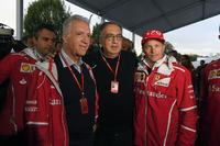 Piero Lardi Ferrari, Ferrari Vice President, Sergio Marchionne, CEO FIAT, Kimi Raikkonen, Ferrari at Ferrari 70th Anniversary