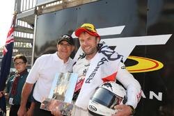 Race winner Bruce Anstey