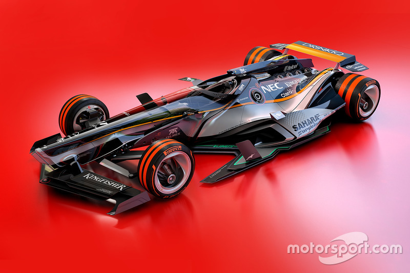 Force India 2030 fantezi tasarım