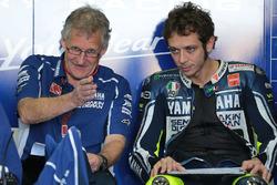 Valentino Rossi, Yamaha Factory Racing and Jeremy Burgess, Yamaha Factory Racing crew chief
