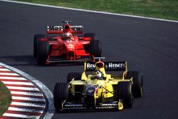 Деймон Хілл, Jordan, та Міхаель Шумахер, Ferrari