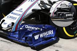 Williams FW38 detail van de voorvleugel