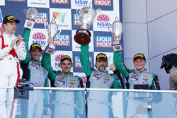 Podium: third place #540 Black Swan Racing Porsche 911 GT3 R: Tim Pappas, Jeroen Bleekemolen, Luca S