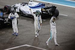 Valtteri Bottas, Mercedes AMG F1, Lewis Hamilton, Mercedes AMG F1 and Felipe Massa, Williams celebrate in parc ferme
