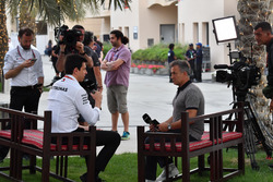 Toto Wolff, Mercedes AMG F1 Director of Motorsport and Jean Alesi