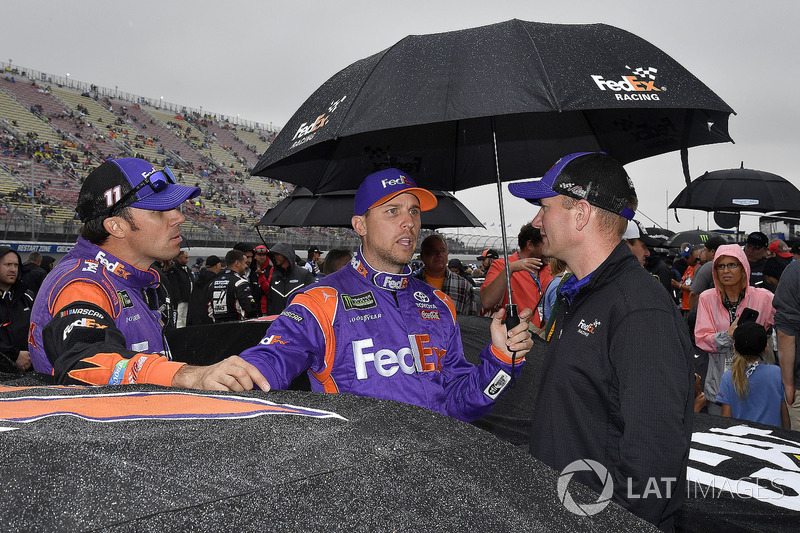 Denny Hamlin, Joe Gibbs Racing, Toyota Camry FedEx Freight and crew chief Mike Wheeler