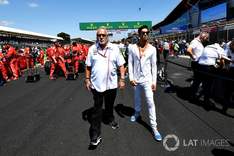 Dr. Vijay Mallya, Force India Formula One Team Owner on the grid
