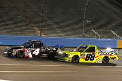 Christopher Bell, Kyle Busch Motorsports Toyota and Matt Crafton, ThorSport Racing Toyota