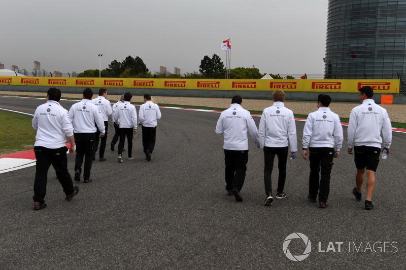 Sauber walk the track