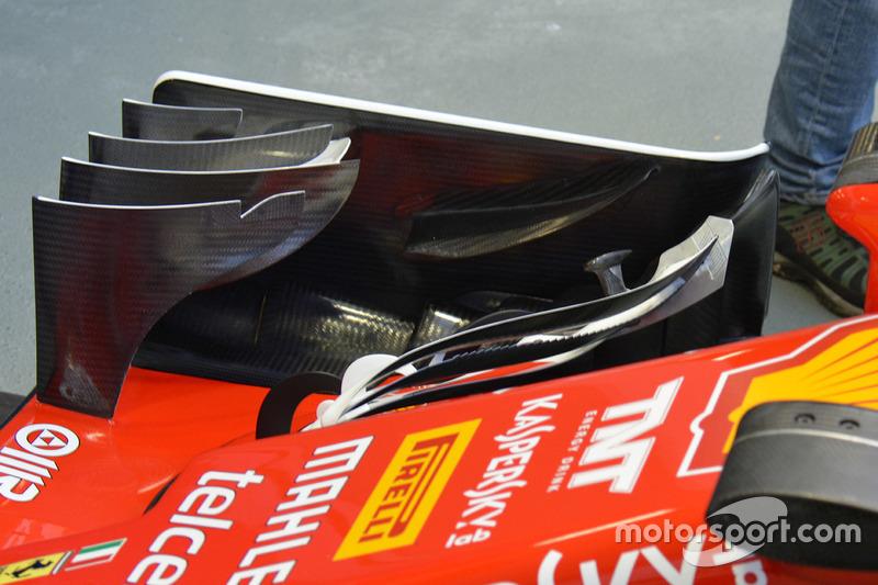Ferrari SF16-H: Frontflügel, Detail