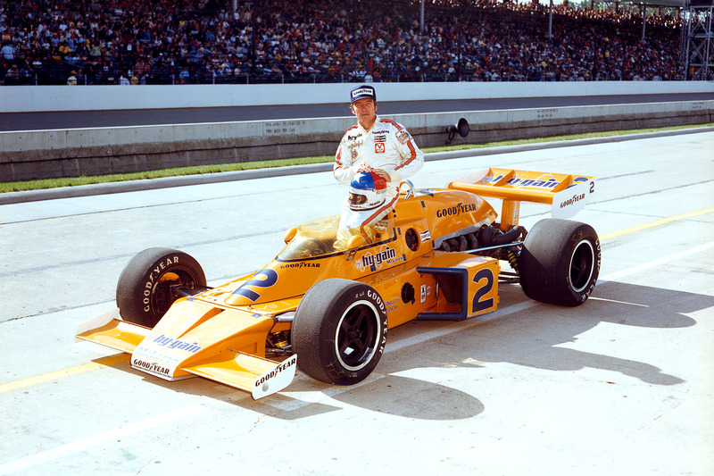 Le vainqueur Johnny Rutherford, McLaren/Offy