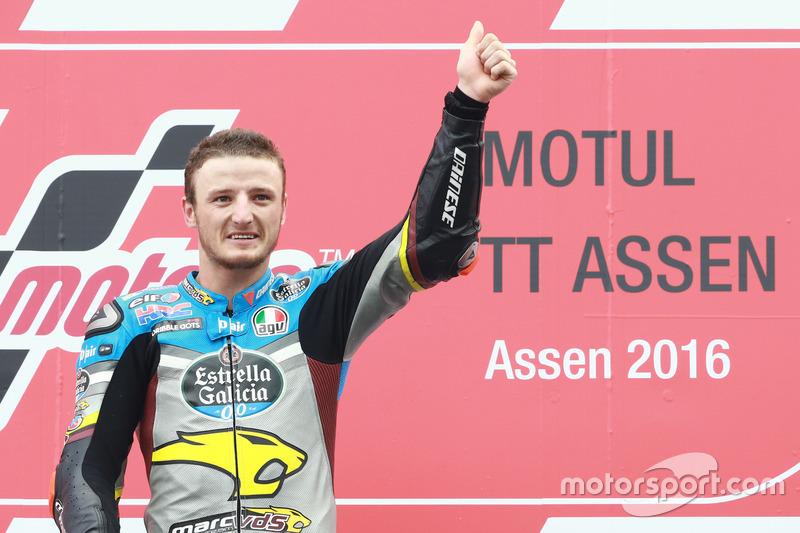 Podium: Sieger Jack Miller, Marc VDS Racing, Honda