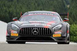 #84 AMG Team, HTP Motorsport Mercedes AMG GT3: Dominik Baumann, Jazeman Jaafar, Maximilian Bühk