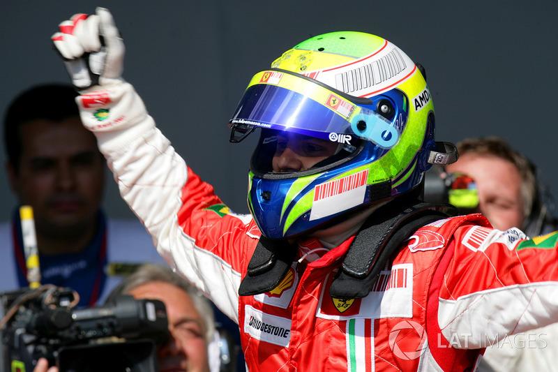 Felipe Massa, Ferrari F2007 celebra la Pole Position