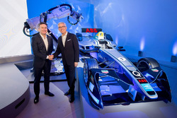 Alejandro Agag, CEO fondateur de Formula E, et Ulrich Spiesshofer, CEO d'ABB