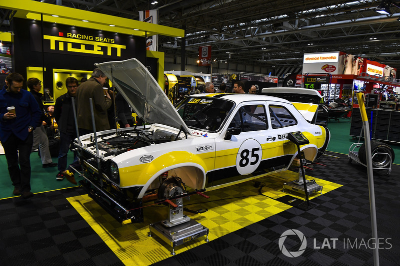 A Ford Escort on display