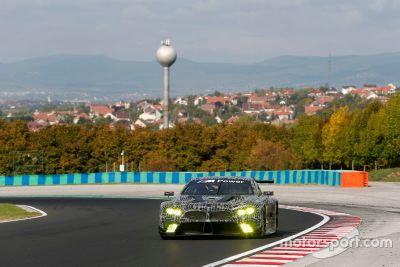 BMW M8 GTE tesztelése a Hungaroringen
