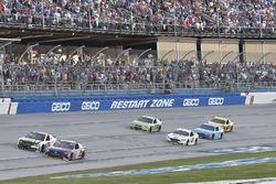 Denny Hamlin, Joe Gibbs Racing Toyota, Ryan Newman, Richard Childress Racing Chevrolet, Brad Keselowski, Team Penske Ford, Dale Earnhardt Jr., Hendrick Motorsports Chevrolet