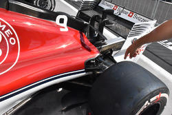 Vue détaillée de l'arrière de la Sauber C37