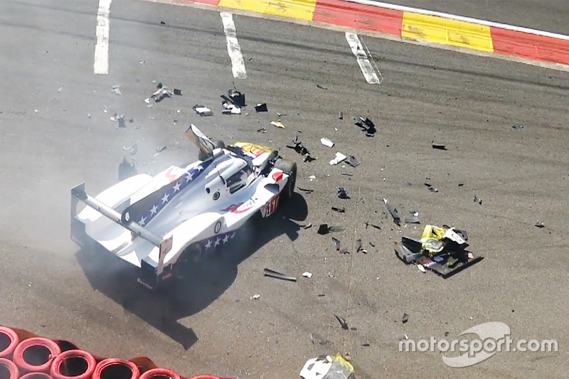 Pietro Fittipaldi, Dragonspeed BR Engineering BR1 suffers a huge crash