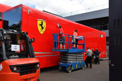 Ferrari truck is cleaned