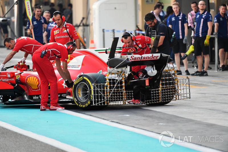 Kimi Räikkönen, Ferrari SF70H, Aerodynamik-Sensoren und Heckflügel