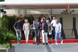 Mark Webber, Susie Wolf, Steve Jones, David Coulthard and Eddie Jordan, form the Channel 4 TV coverage team