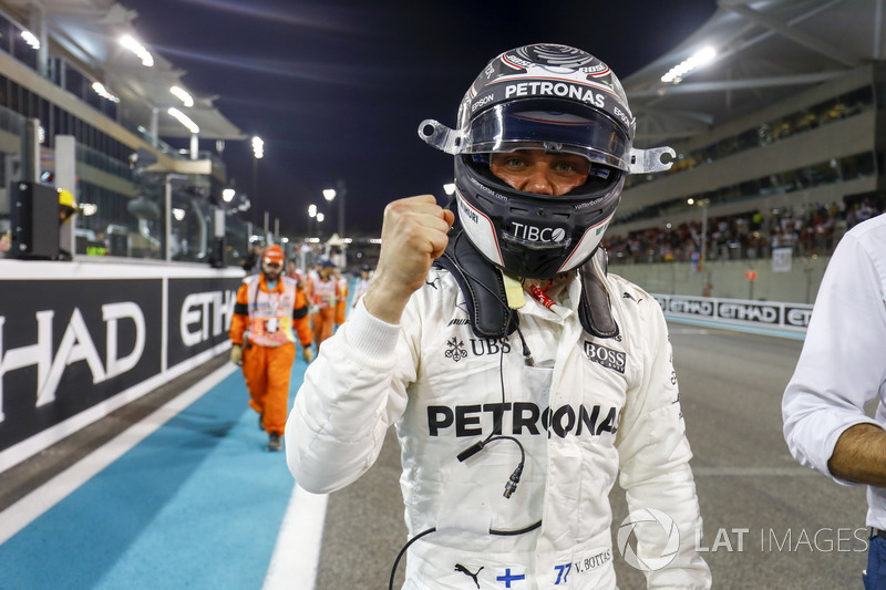 Pole position for Valtteri Bottas, Mercedes AMG F1